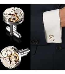 uomo gemelli a forma di orologio meccanico opaco regalo per nozze accessore camicia