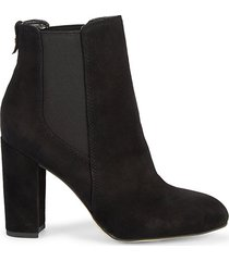 case suede block-heel booties