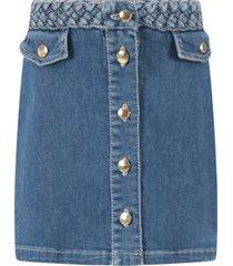 chloé light blue skirt for girl with logo