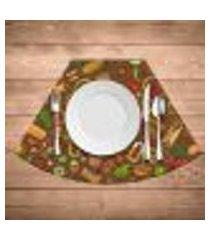 jogo americano para mesa redonda wevans mexican cuisine kit com 6 pçs