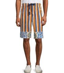 dolce & gabbana men's striped cotton & silk-blend shorts - size 52 (36)