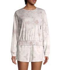 lea & viola women's tie-dye sweatshirt - tie dye - size l