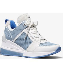 mk sneaker georgie extreme in materiale misto - blu pallido (blu) - michael kors