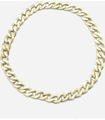 maison margiela oversized chain necklace in silver