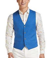 paisley & gray slim fit suit separates vest french blue