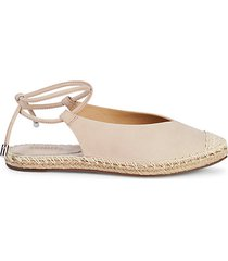 laba ankle-tie leather espadrille flats