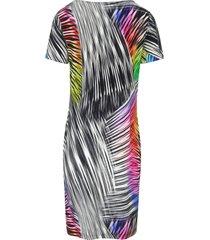 jurk met korte mouwen en ronde hals van peter hahn multicolour