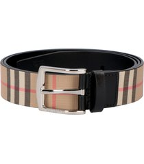 burberry canvas and leather belt