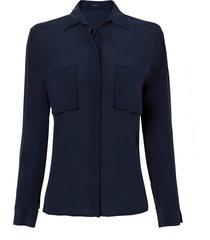 camisa le lis blanc belle lisa i seda azul marinho feminina (dark blue, 50)