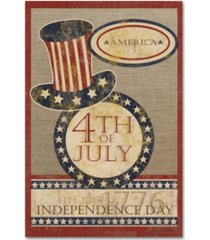 """jean plout '4th of july flag' canvas art - 19"""" x 12"""" x 2"""""""