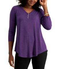 jm collection shirttail-hem top, created for macy's