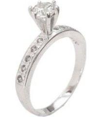 anel lolla925 solitário luxo prata 925