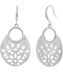 the sak oval filigree earrings