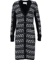 wool-blend tweed cardigan