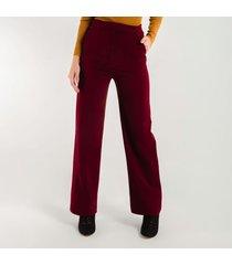 pantalon para mujer en poliester poliester rojo
