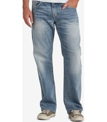 silver jeans co. men's gordie loose fit straight stretch jeans