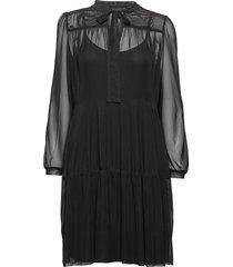 peonykb short dress knälång klänning svart karen by simonsen