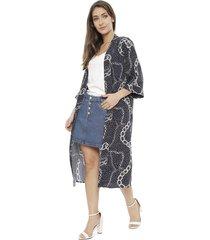 kimono io azul - calce holgado