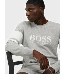 boss authentic sweatshirt tröjor light grey