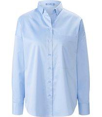 blouse met lange mouwen en doorknoopsluiting van day.like blauw