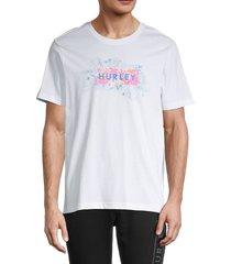 hurley men's electric logo t-shirt - black - size m