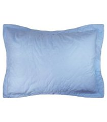 porta travesseiro avulso percal 300 fios - algodáo - home collection - appel - azul