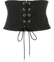 pinko cinto com corset - preto