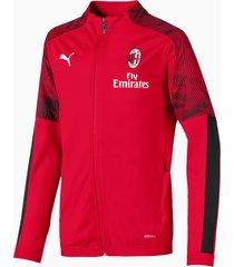 ac milan polyjack, zwart/rood, maat 164   puma