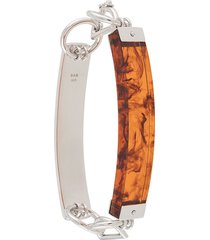 bar jewellery barette two-bar bracelet - silver