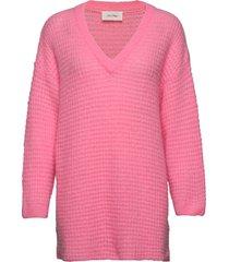 vapcloud stickad tröja rosa american vintage