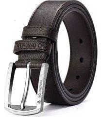 cinturón clásico hombre casual cuero 125cm dkk1 café