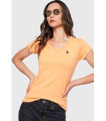 camiseta naranja-negro us polo assn