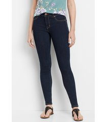 maurices womens denimflex™ high rise rinse wash jegging blue