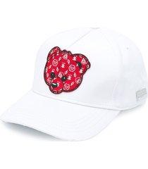 philipp plein teddy bear baseball cap - white