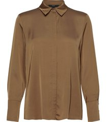 blouses woven blus långärmad brun esprit collection