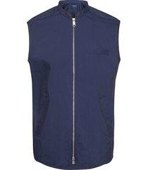 zip-front wind vest vest blauw eton