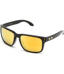 óculos de sol oakley holbrook preto/amarelo