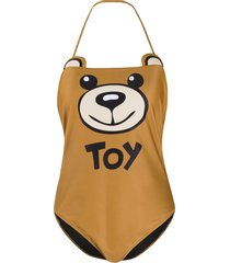 moschino teddy toy one-piece - brown