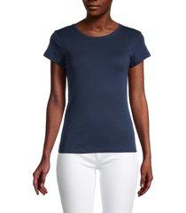 splendid women's crewneck short-sleeve t-shirt - navy - size xs