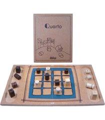 jogo de tabuleiro mitra quarto marrom - kanui