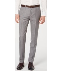 hugo men's slim-fit wool pants