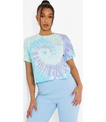 kort tie dye t-shirt, blue