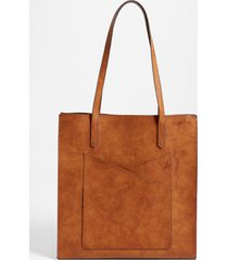 maurices womens crossover pocket tote bag brown