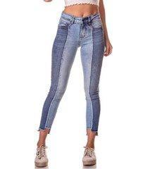 89d61486b calça jeans denim zero skinny média cigarrete recorte lateral feminina