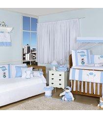 quarto completo padroeira baby balão mágico azul