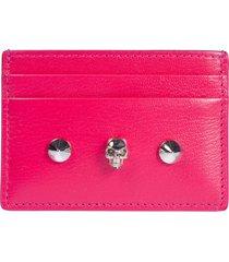 alexander mcqueen skull embellished card holder