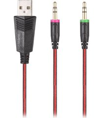 audifonos, kotion each g2000 auriculares estéreo para juegos con-rojo