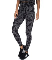 calça legging puma elevated ess aop - feminina - preto