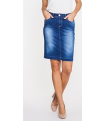 spódnica dżinsowa o klasycznym kroju kate
