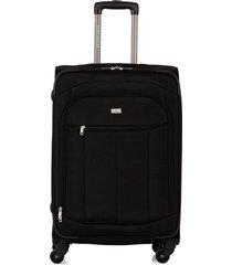 maleta de viaje mediana en lona con cuatro ruedas giratorias 93171